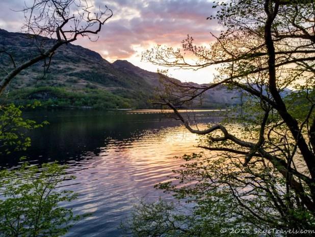 Sunset on the West Highland Way