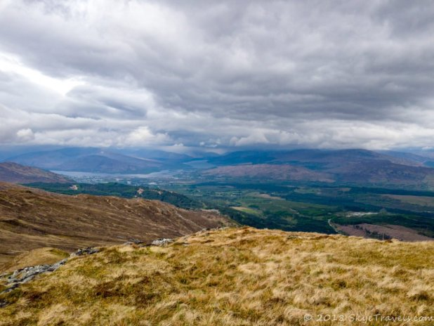 View from Sgurr Finnisg-aig at Nevis Range