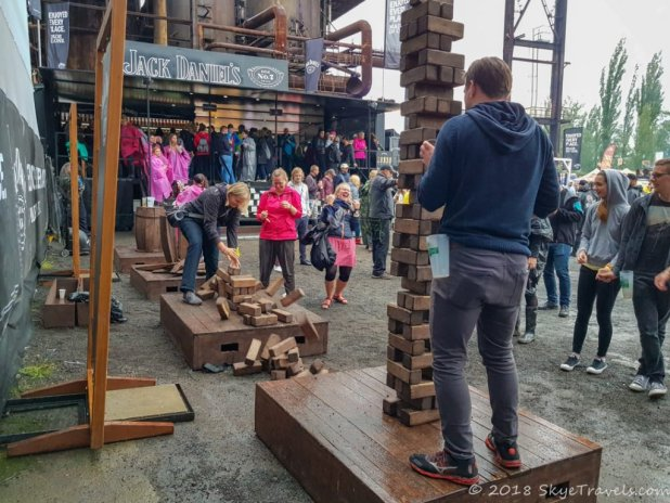 Colours of Ostrava Jenga Game
