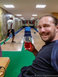 Selfie in Emil Zátopek-Maraton Mountain Cottage Bowling Alley