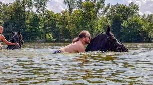 Selfie Horse Swimming at Svata Katerina Resort #2