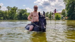 Selfie Horse Swimming at Svata Katerina Resort #3