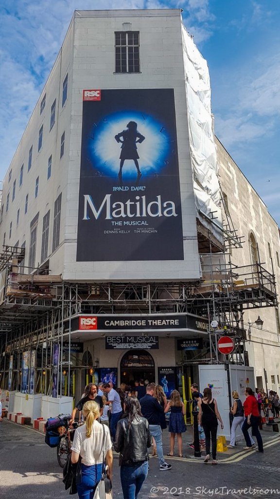 Cambridge Theater Playing Matilda in London's West End