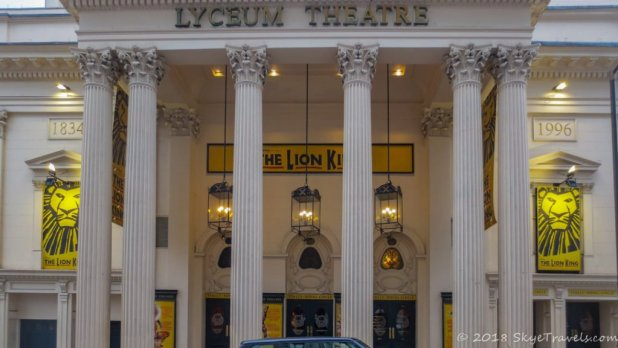 Lyceum Theatre Playing the Lion King in London's West End