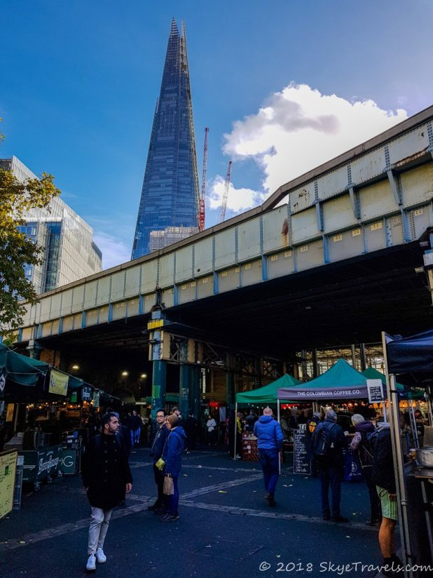 The Shard Above Borough Market