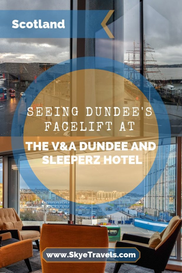 I never wrote about my two weeks housesitting in Dundee. I recently returned to see it become a nifty little city with additions like the Sleeperz Hotel. #Sleeperz #Dundee #VisitScotland #V&ADundee