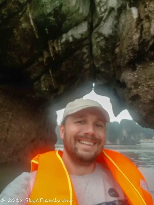 Seflie Under Dinh Huong Island
