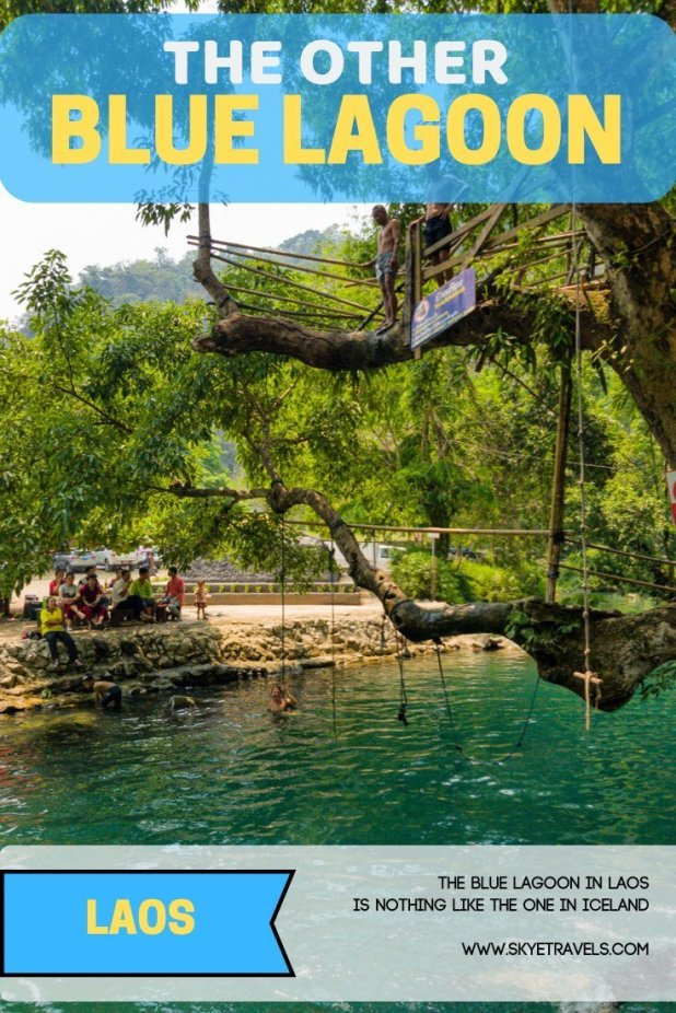 My expectations for the Blue Lagoon in Laos might have been a little high, considering I was thinking of the attraction in Iceland with the same name. #Vangvieng #BlueLagoon #Laos #VisitLaos #Activities #WaterSports #SEAsia