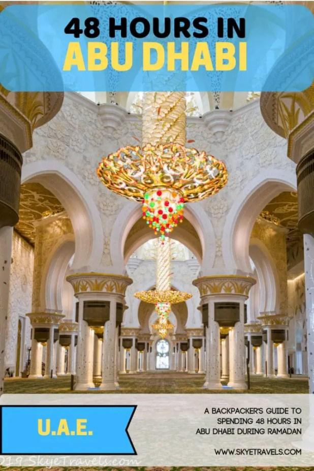48 Hours in Abu Dhabi Pin