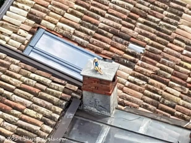 Barbie on the Roof in Riva del Garda