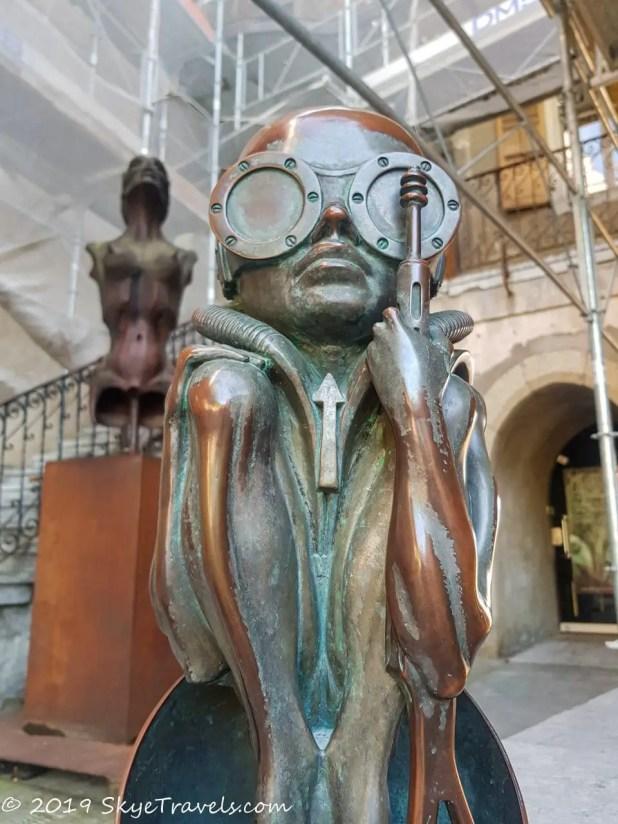 HR Giger Museum Artwork in Gruyeres, Switzerland