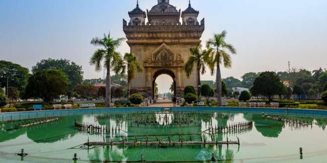 Patuxai Arch in Vientiane, Northern Laos
