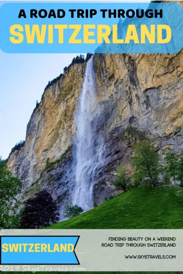Road Trip Through Switzerland Pin