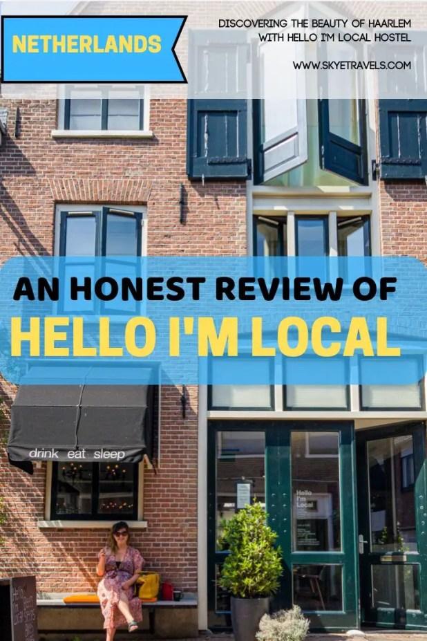 Hello I'm Local Hostel Haarlem Pin
