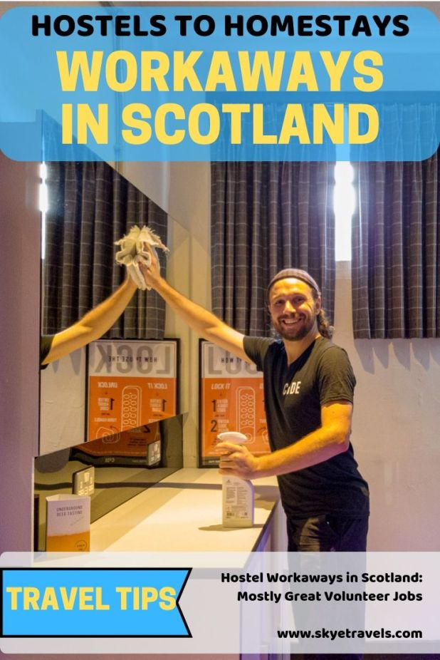My Workaways in Scotland helping at different hostels have been some of my favorite volunteer jobs around the world. Here\'s what you can expect. #Workaway #Volunteering #Scotland #Worldpackers #VisitScotland #CodeHostel #Hostels