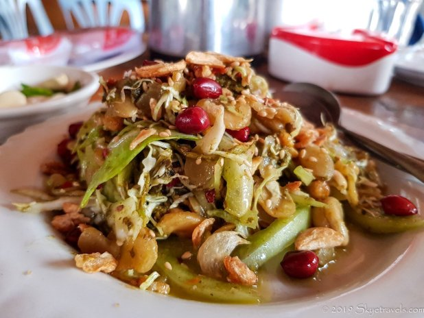 Tea Leaf Salad at Valentine in Myanmar