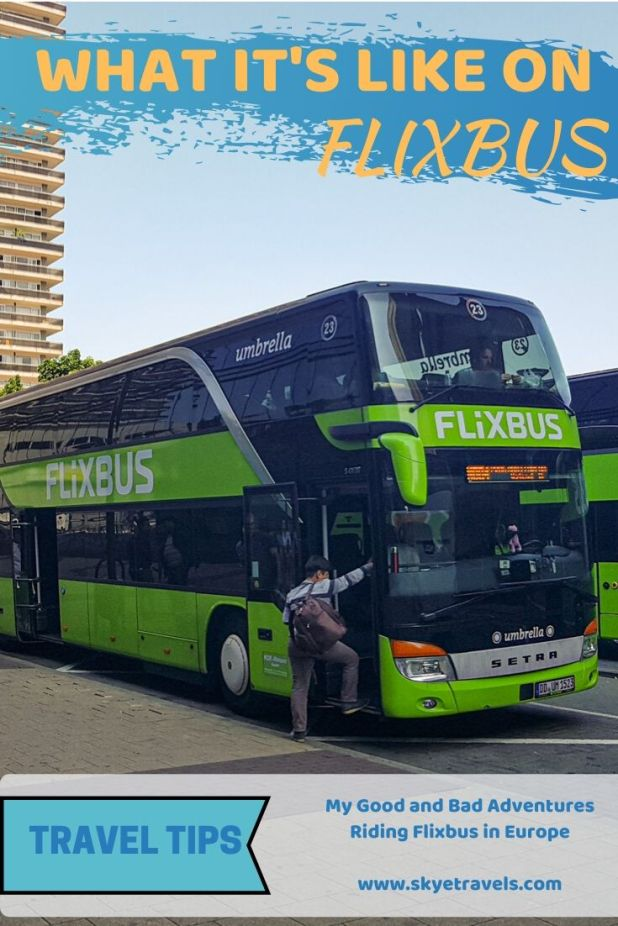 If you\'re traveling on a budget, using Flixbus in Europe is your best choice. Here are my experiences with the bus company that bought out Megabus. #Flixbus #Megabus #BudgetTravel #EuropeTravel #Transportation #BusRides