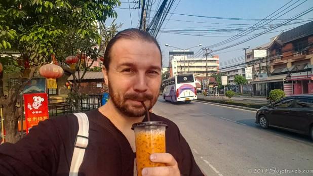 Selfie with Thai Tea