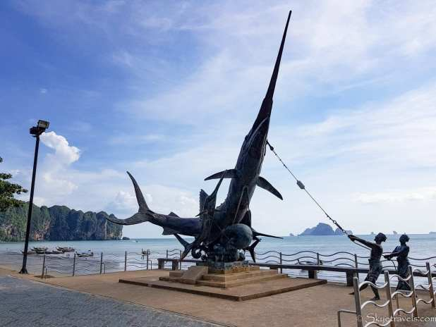Sculpture on Ao Nang Beach