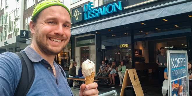 Selfie with Ice Cream in Rotterdam