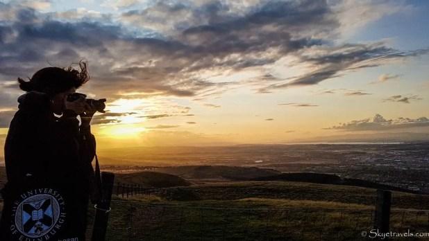 Sunset in the Pentlands