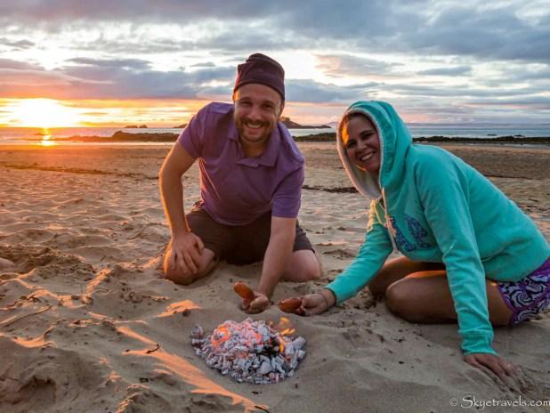 Dinner BBQ with Sunset on Yellowcraig Beach