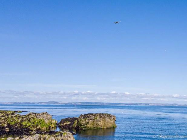 Plane at Yellowcraig Beach