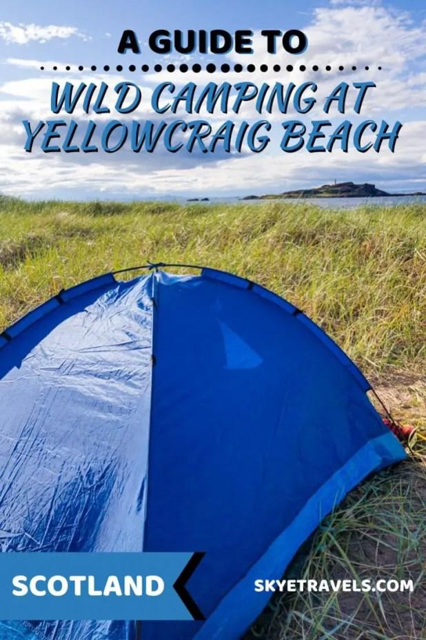 Wild Camping at Yellowcraig Beach Pin