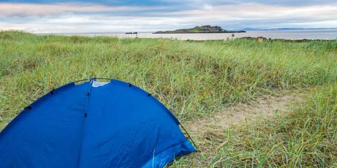 Wild Camping at Yellowcraig Beach