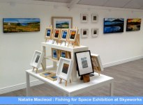 Small Paintings from Natalie Macleod Fishing for Space Exhibition at Skyeworks