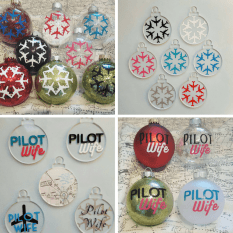 Pilot Wife Christmas Decorations