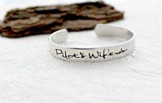 pilot wife cuff bracelet