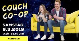 Kempten: Couch Co-Op! (09.03.2019) @ Heldenschmiede   Kempten (Allgäu)   Bayern   Deutschland