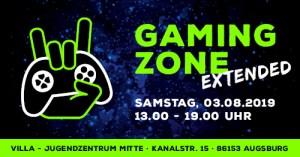 Augsburg: Gaming Zone EXTENDED @ Jugendzentrum Villa (03.08.2019) @ Jugendzentrum villa - Stadtjugendring Augsburg   Augsburg   Bayern   Deutschland