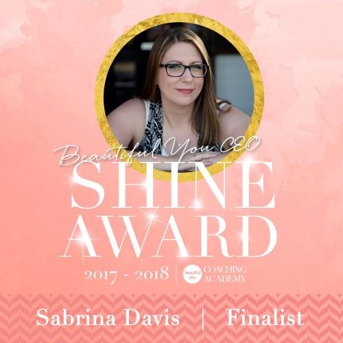 Beautiful You Coaching Academy Shine Award Finalist 2017