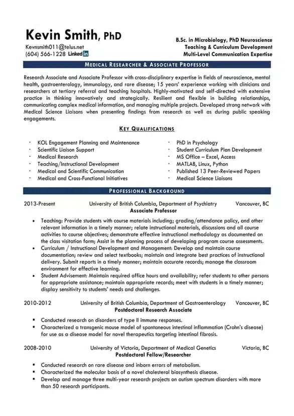 Resume Service in Vancouver Kelowna British Columbia