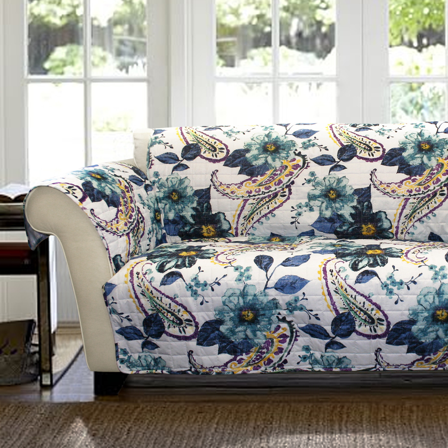 flower sofa covers beds malaga spain cover  sky industries