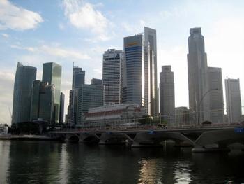 Singapur - drapacze chmur i morze