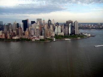 Dolny Manhattan - widok z helikoptera