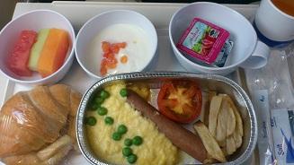 Śniadanie w Bangok Airways RGN-BKK