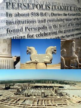 Ruiny Persepolis. Iran