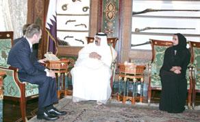 Polski premier i katarski emir Hamad bin Chalifa As-Sani