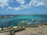 The view of Marigot Bay from the Fort.