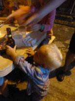 Little Adam from Dark House chancing his arm for a sip