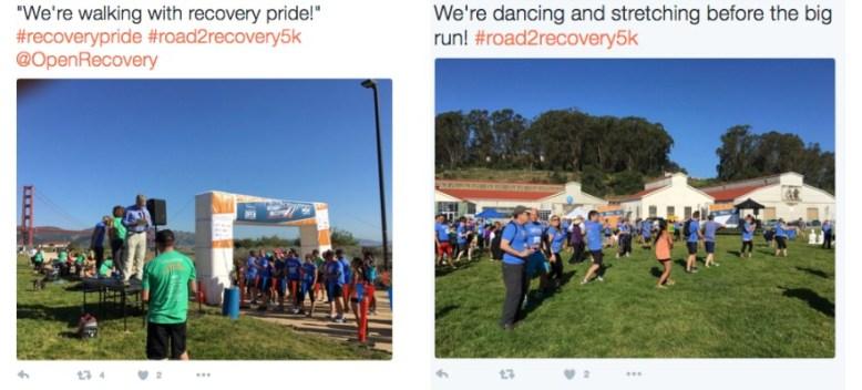 Tweeting event examples
