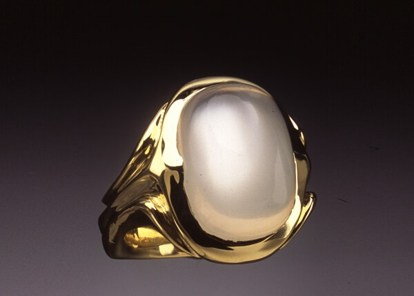 Mens Moonstone Cabochon Ring  Skylight Jewelers