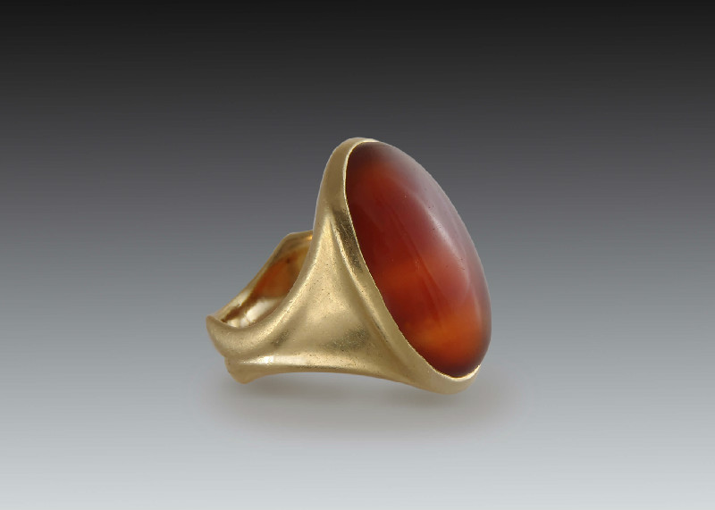 Carnelian Cabochon Mens Ring Skylight Jewelers