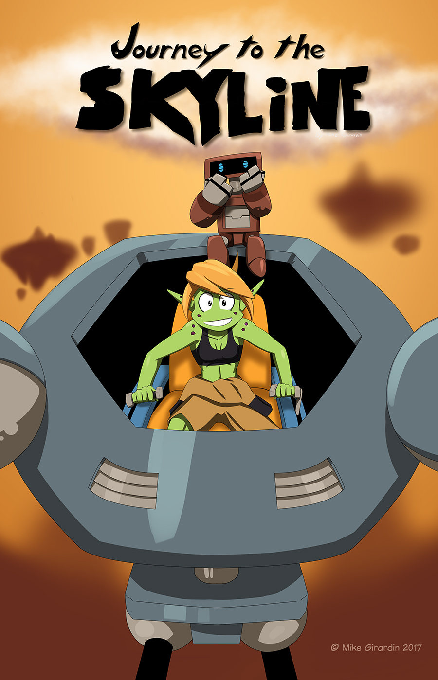 The start of an adventure and new comic: Journey to the Skyline issue 01 Cover!
