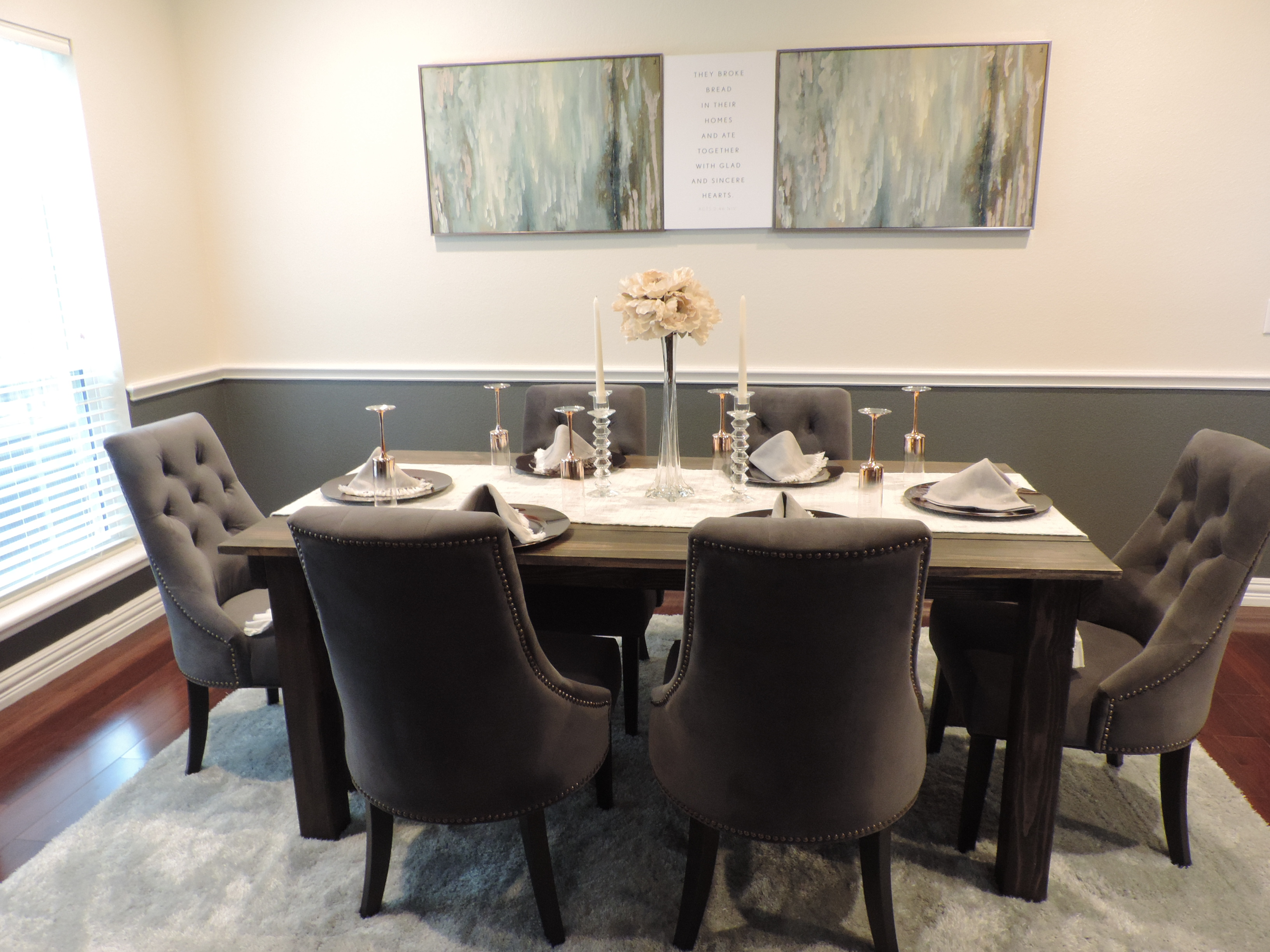 Dining Room Reveal Carson HQ Sky Miles Style - Custom dining room table runners