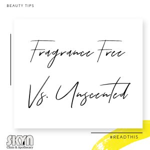 Fragrance Free vs Unscented
